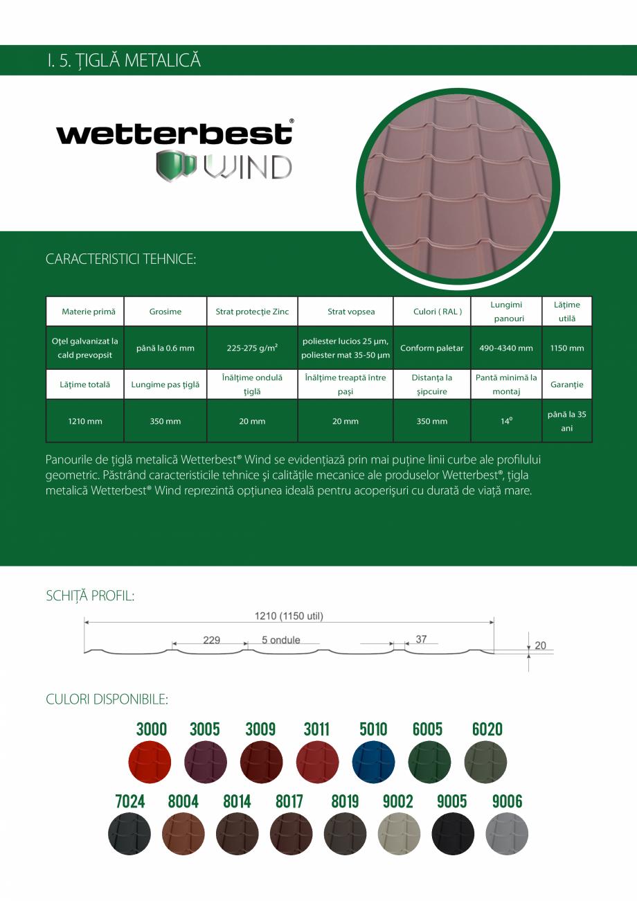 Pagina 8 - Catalog de produse Wetterbest Gladiator, Colloseum, Plus, Clasic, Wind Catalog, brosura...