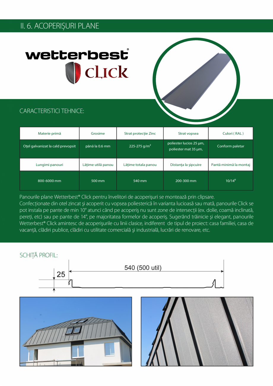 Pagina 9 - Catalog de produse Wetterbest Gladiator, Colloseum, Plus, Clasic, Wind Catalog, brosura...