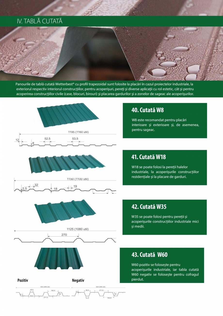 Pagina 16 - Catalog de produse Wetterbest Gladiator, Colloseum, Plus, Clasic, Wind Catalog, brosura ...