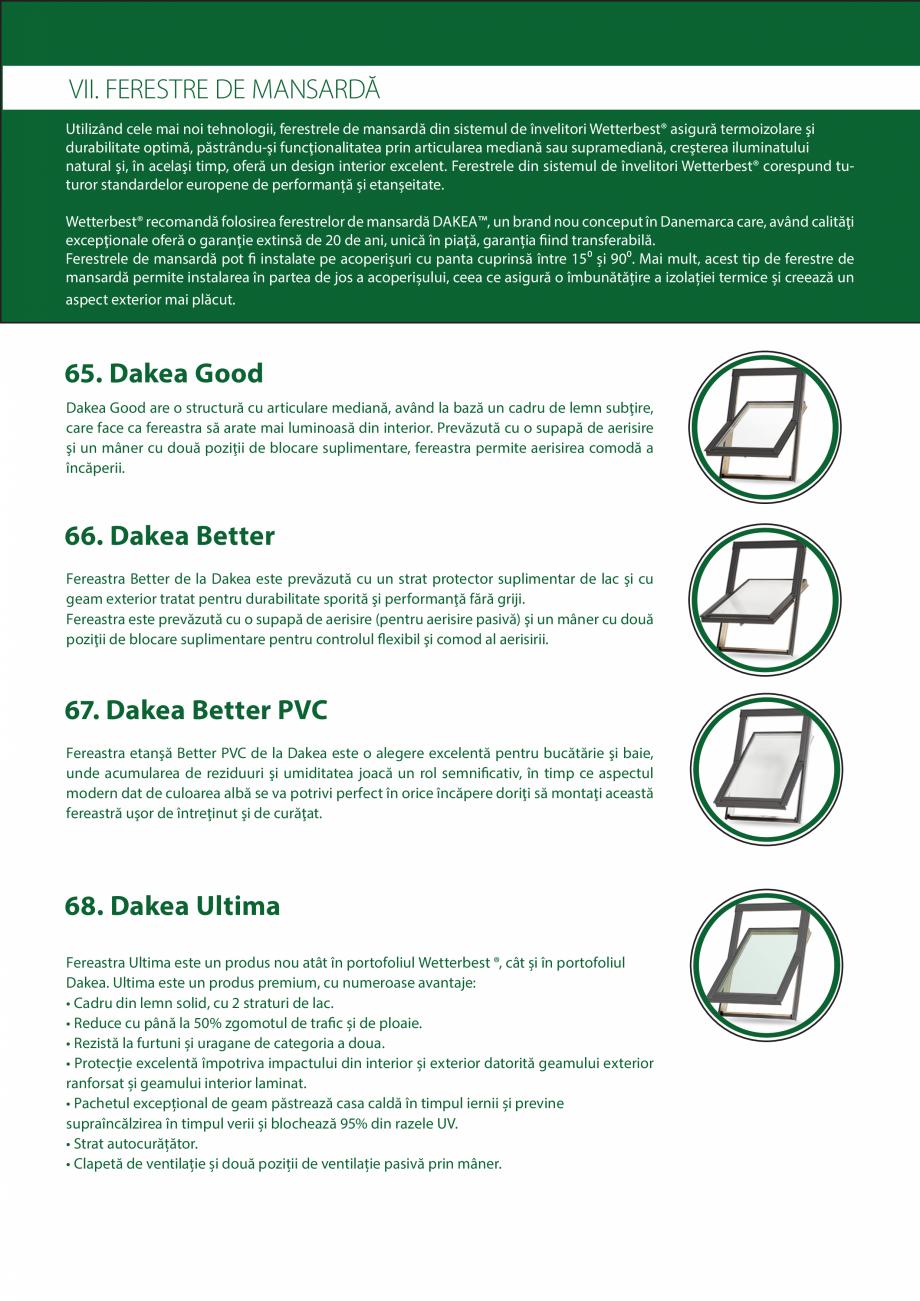 Pagina 22 - Catalog de produse Wetterbest Gladiator, Colloseum, Plus, Clasic, Wind Catalog, brosura ...