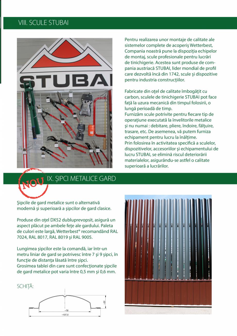 Pagina 23 - Catalog de produse Wetterbest Gladiator, Colloseum, Plus, Clasic, Wind Catalog, brosura ...
