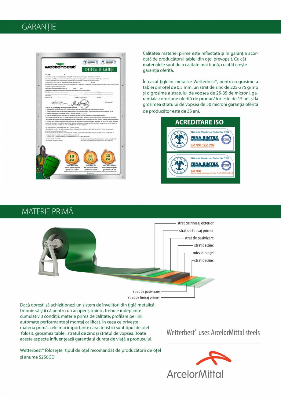 Pagina 24 - Catalog de produse Wetterbest Gladiator, Colloseum, Plus, Clasic, Wind Catalog, brosura ...