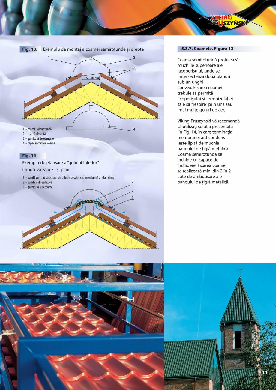 Pagina 11 - Ghid de montaj pentru tigla metalica Viking Pruszynski Kron, Arad Modus, Arad Optima,...