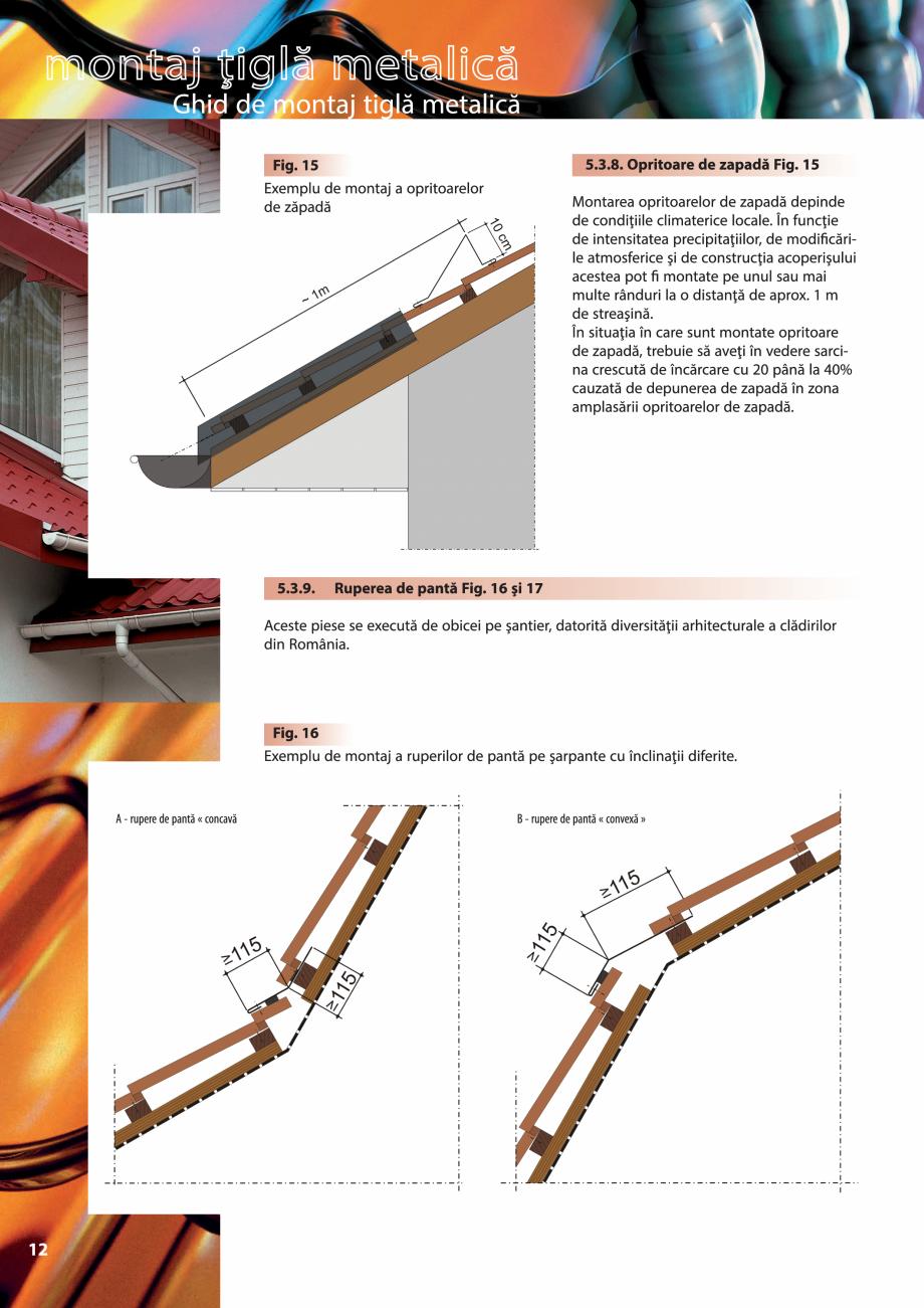 Pagina 12 - Ghid de montaj pentru tigla metalica Viking Pruszynski Kron, Arad Modus, Arad Optima,...