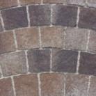 Rosu vulcanic - Pavaj din beton - Arte Arc de cerc