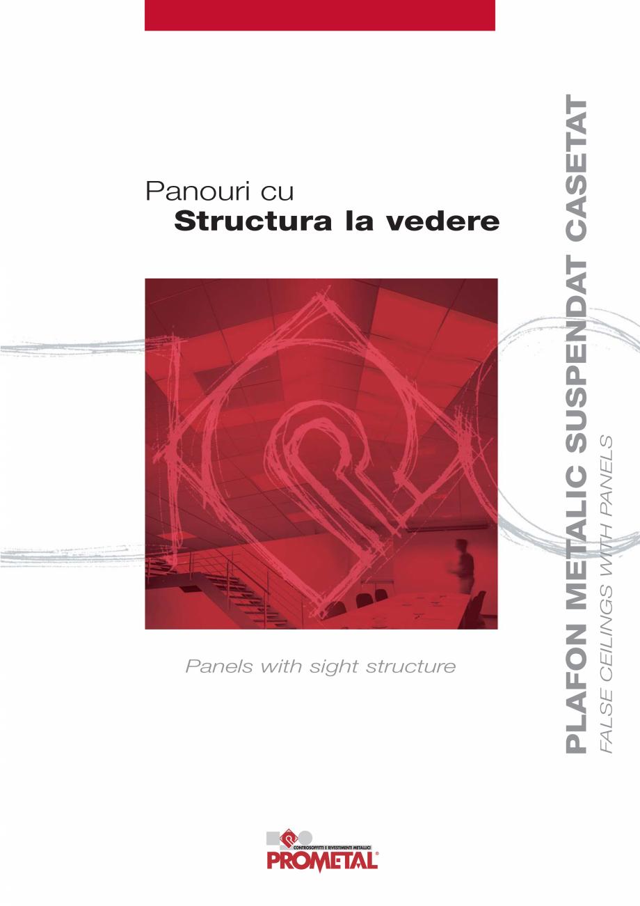 Pagina 1 - Panouri cu structura la vedere PROMETAL Catalog, brosura Romana Panels with sight...