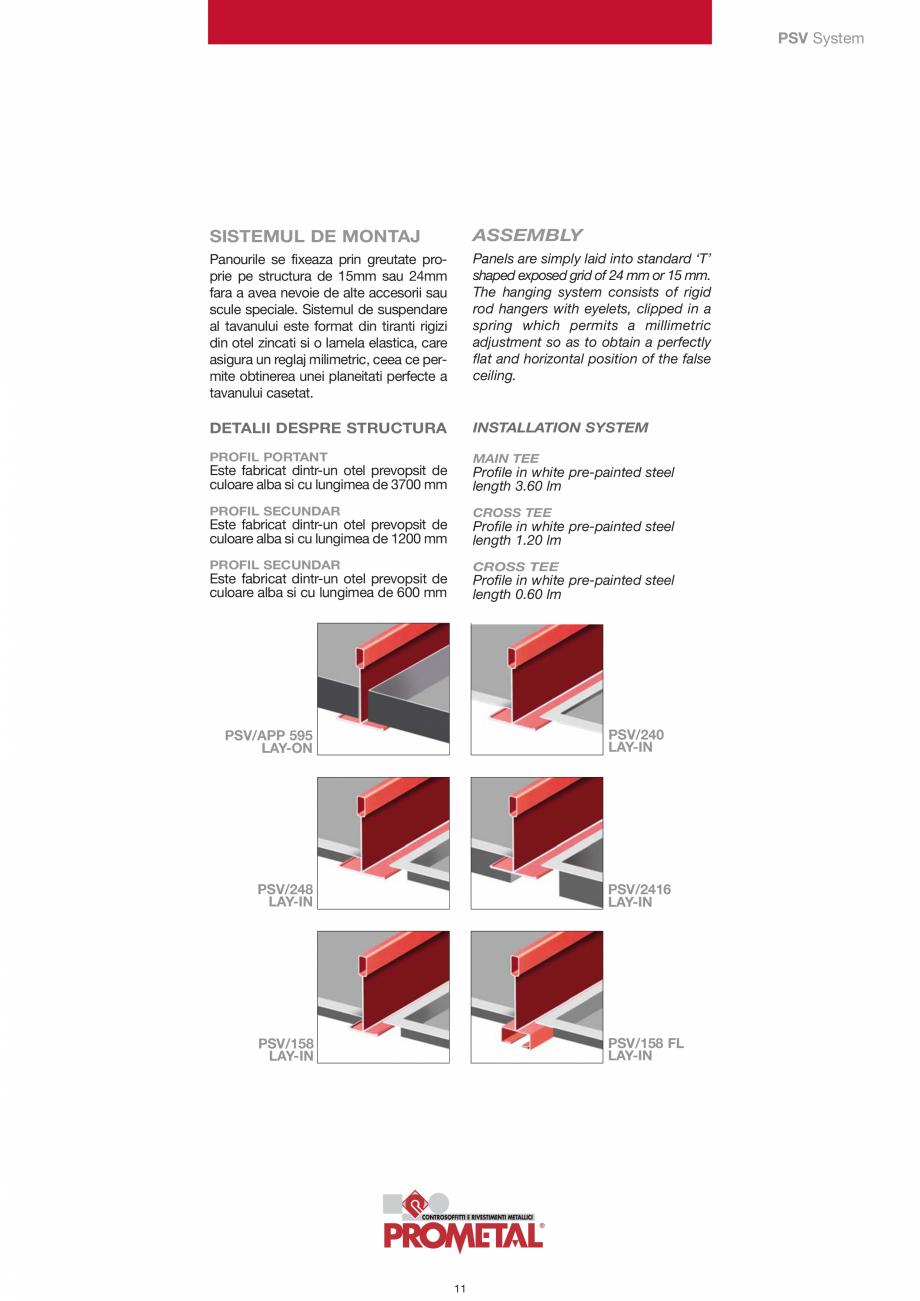 Pagina 11 - Panouri cu structura la vedere PROMETAL Catalog, brosura Romana lexibila Spring  Tirant ...