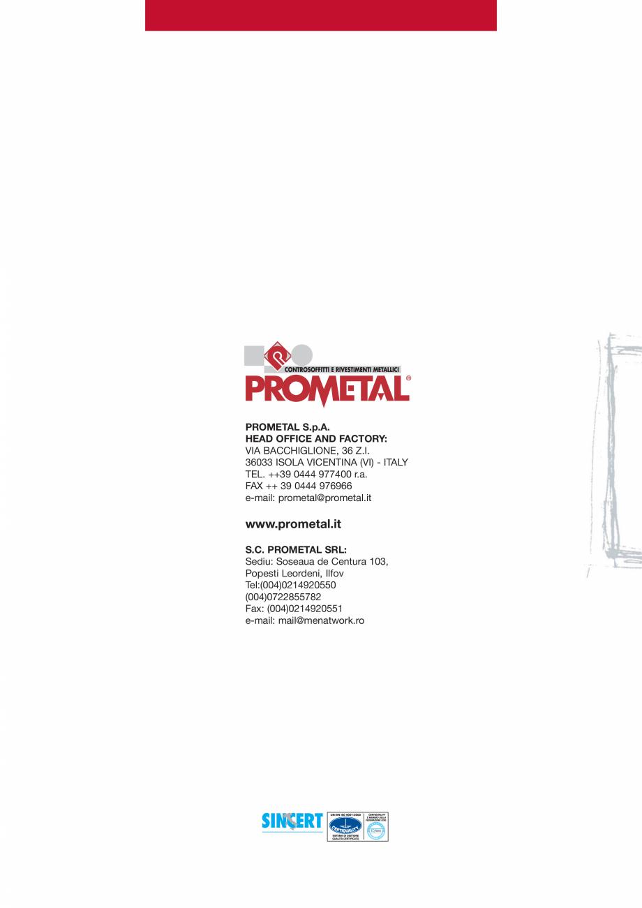 Pagina 20 - Panouri cu structura la vedere PROMETAL Catalog, brosura Romana