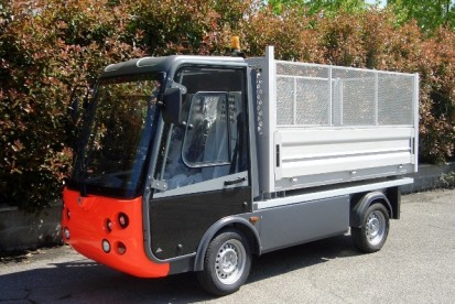 Esagono Gastone Long Tipper with overside grids PICK-UP GASTONE Autoutilitare electrice ecologice