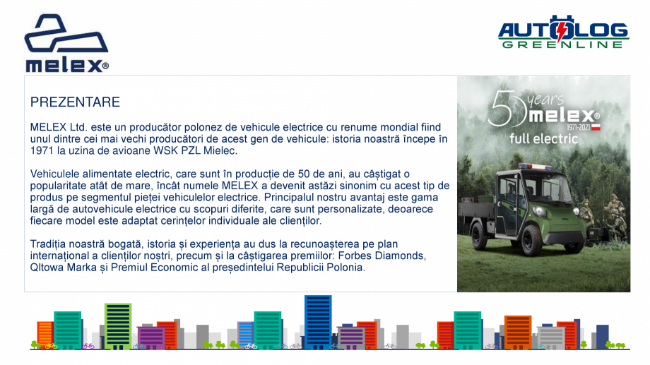 Pagina 2 - Melex Romania- prezentare  Catalog, brosura Romana ate și soluții tehnologice moderne, ...