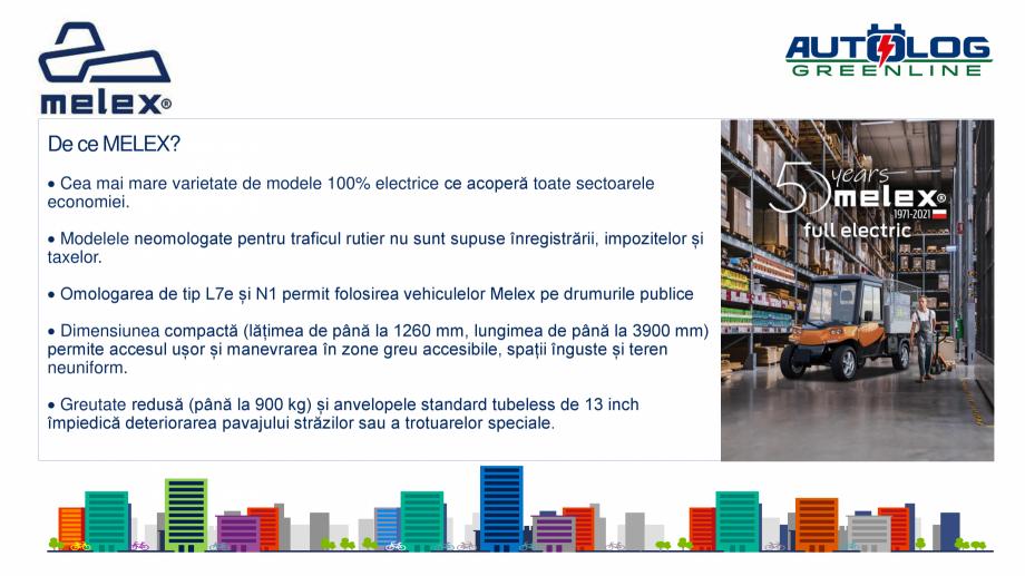 Pagina 6 - Melex Romania- prezentare  Catalog, brosura Romana deză, de 11,2 kW/h cu o garanție de ...