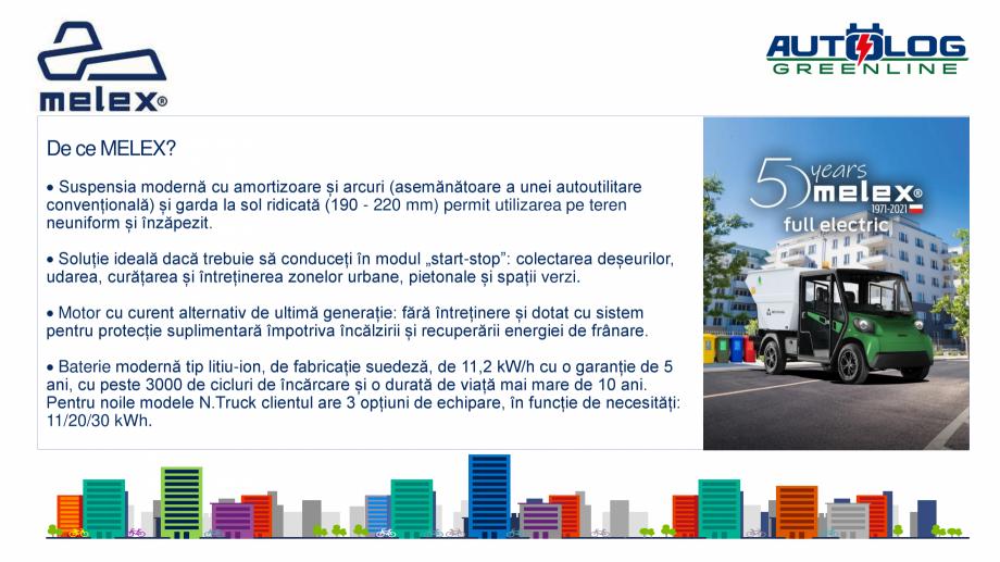 Pagina 7 - Melex Romania- prezentare  Catalog, brosura Romana  înalte pentru transportul...