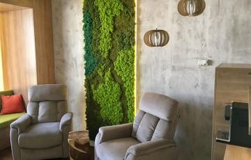 Pereti verzi cu licheni si muschi decorativi Pereti verzi cu licheni si muschi decorativi AERO PLANT nu necesita niciun fel de ingrijire speciala. Izoleaza fonic mai bine decat orice material.