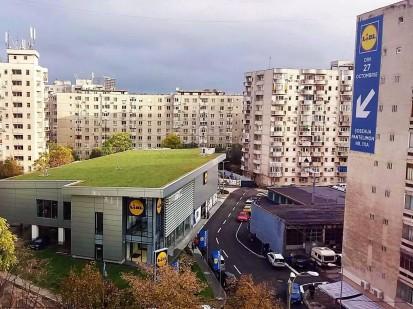 Acoperis verde extensiv la magazinul Lidl Pantelimon Acoperis verde extensiv la magazinul Lidl Pantelimon