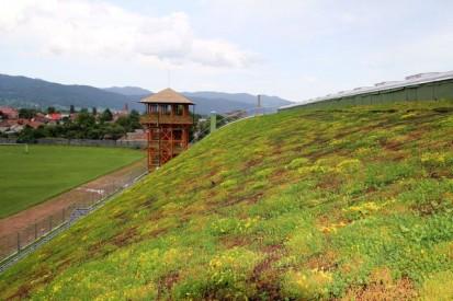 Centrul de Agrement Trotus cu acoperis verde ultrausor 27 Acoperis verde extensiv ultrausor Centrul de Agrement
