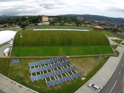 Centrul de Agrement Trotus cu acoperis verde ultrausor 29 Acoperis verde extensiv ultrausor Centrul de Agrement