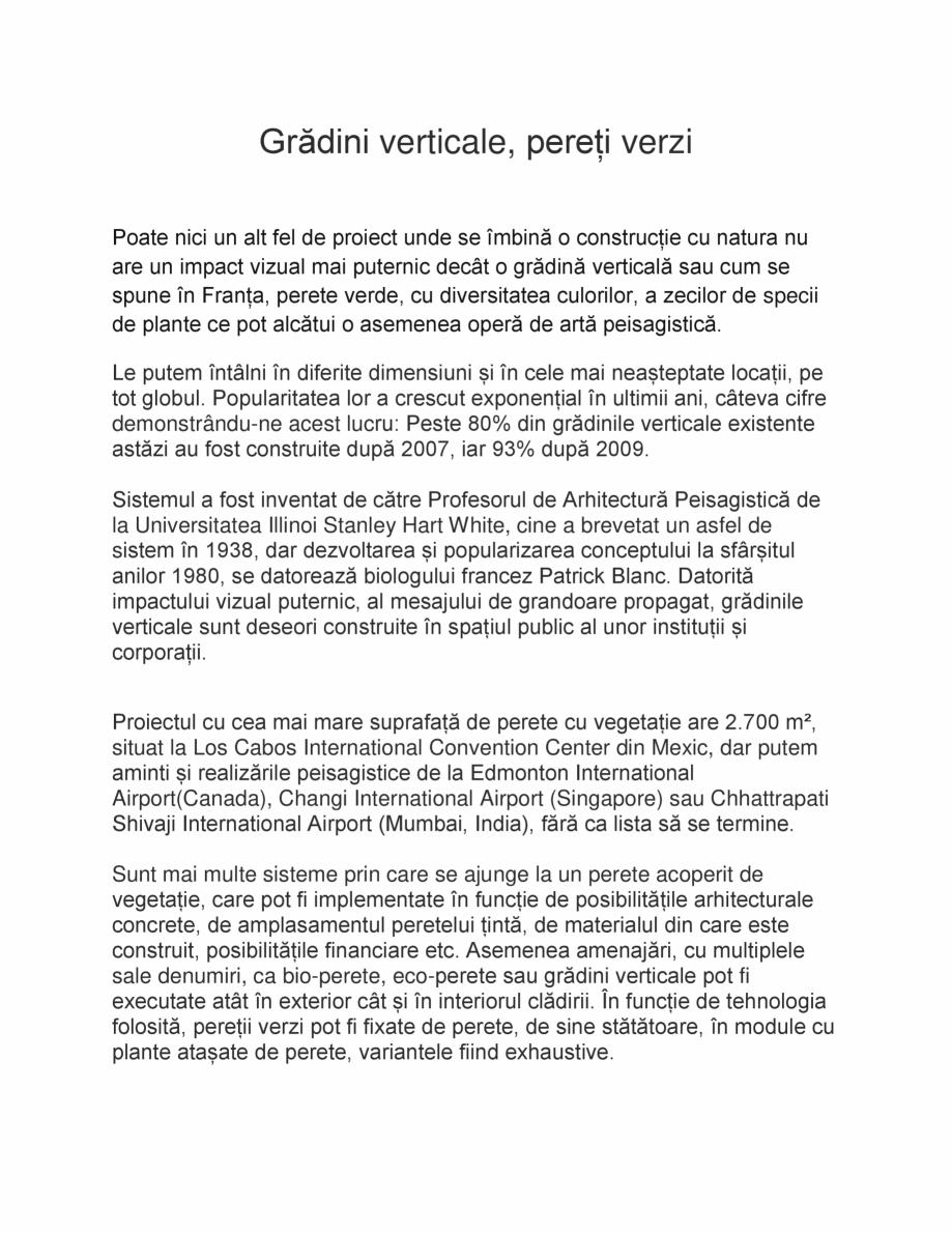 Pagina 1 - Gradini verticale, pereti verzi ODU GREEN ROOF Fatade verzi  Catalog, brosura Romana...