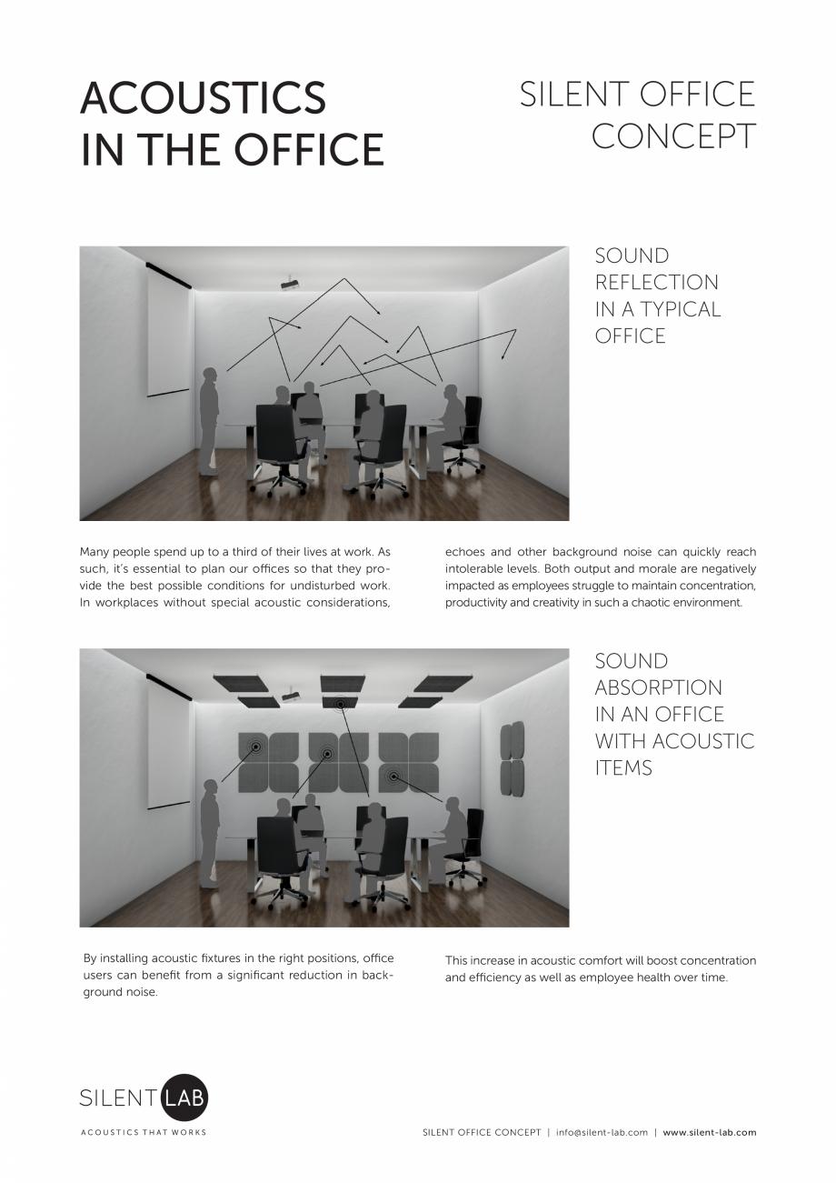 Pagina 2 - Prezentarea conceptului de acustica SilentLab Catalog, brosura o that they provide the...
