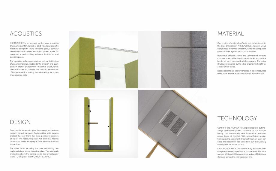 Pagina 4 - MICROOFFICE-uri  - Catalogue SilentLab MICROOFFICE PRIME, MICROOFFICE UNIQ, MICROOFFICE...