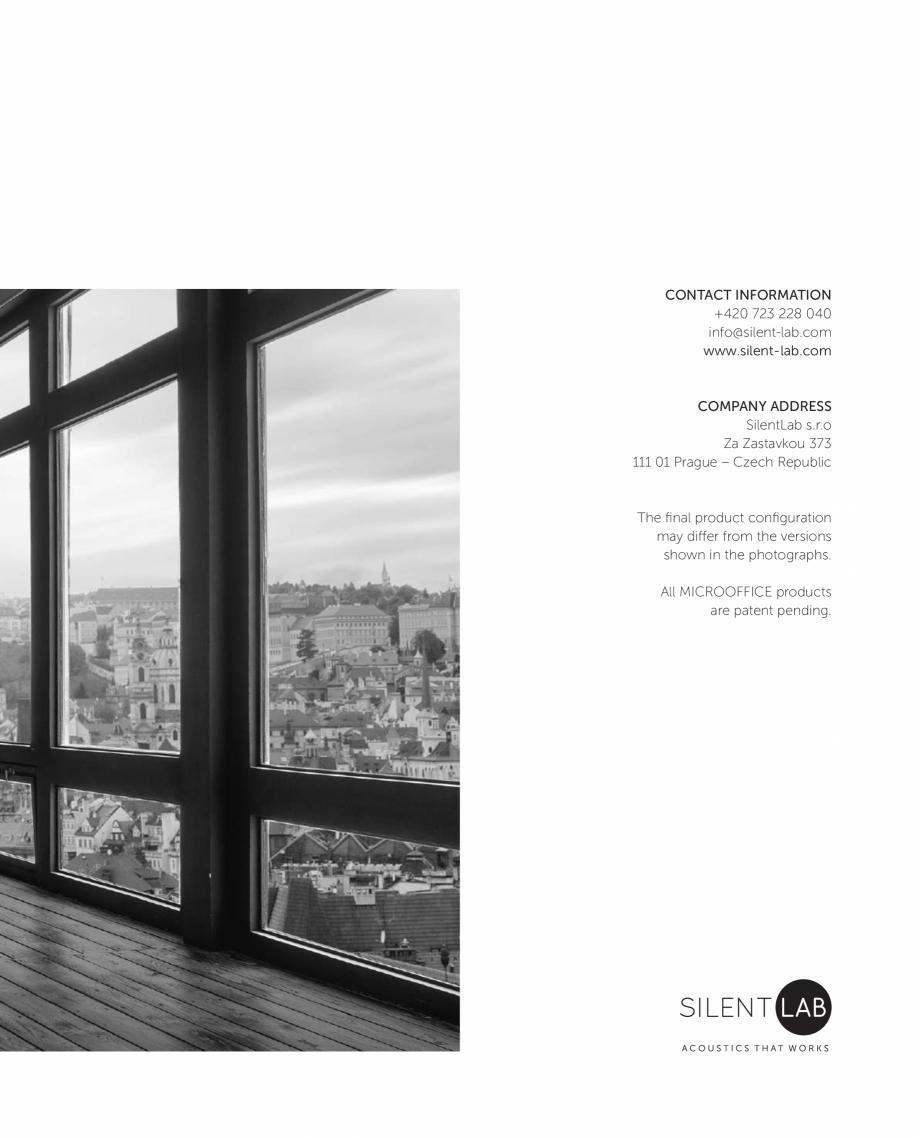 Pagina 17 - MICROOFFICE-uri  - Catalogue SilentLab MICROOFFICE PRIME, MICROOFFICE UNIQ, MICROOFFICE ...