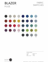 Paletar de culoare pentru materialul textil BLAZER
