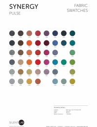 Paletar de culoare pentru materialul textil SYNERGY