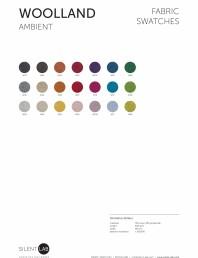 Paletar de culoare pentru materialul textil WOOLLAND