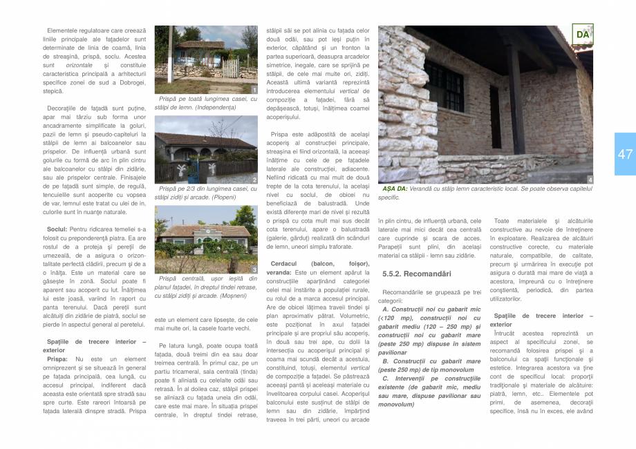Pagina 49 - Zona Dobrogea de Sud - Ghid de arhitectura pentru incadrarea in specificul local din...