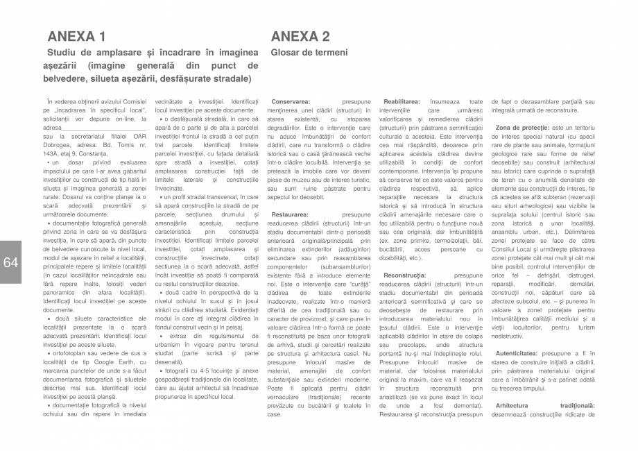 Pagina 66 - Zona Dobrogea de Sud - Ghid de arhitectura pentru incadrarea in specificul local din...