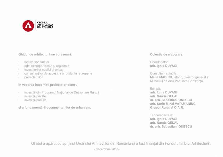 Pagina 2 - Zona Delta Dunarii - Ghid de arhitectura pentru incadrarea in specificul local din mediul...