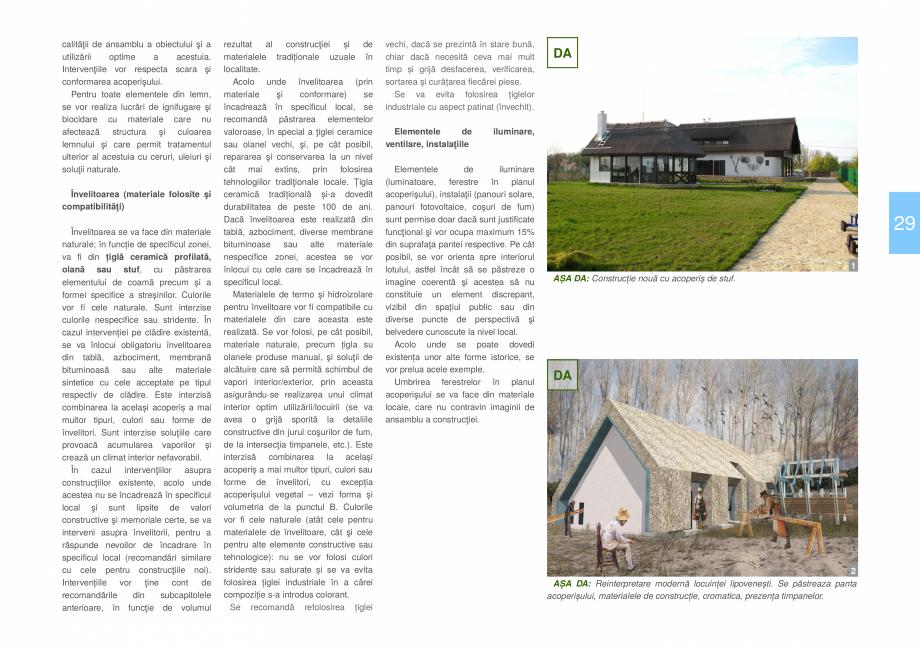 Pagina 31 - Zona Delta Dunarii - Ghid de arhitectura pentru incadrarea in specificul local din...