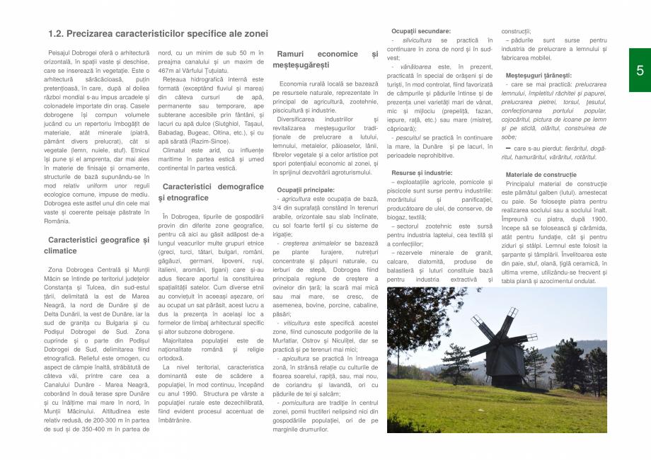 Pagina 7 - Zona Dobrogea Centrala si Muntii Macin - Ghid de arhitectura pentru incadrarea in...