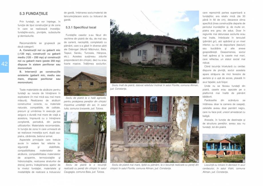 Pagina 44 - Zona Dobrogea Centrala si Muntii Macin - Ghid de arhitectura pentru incadrarea in...