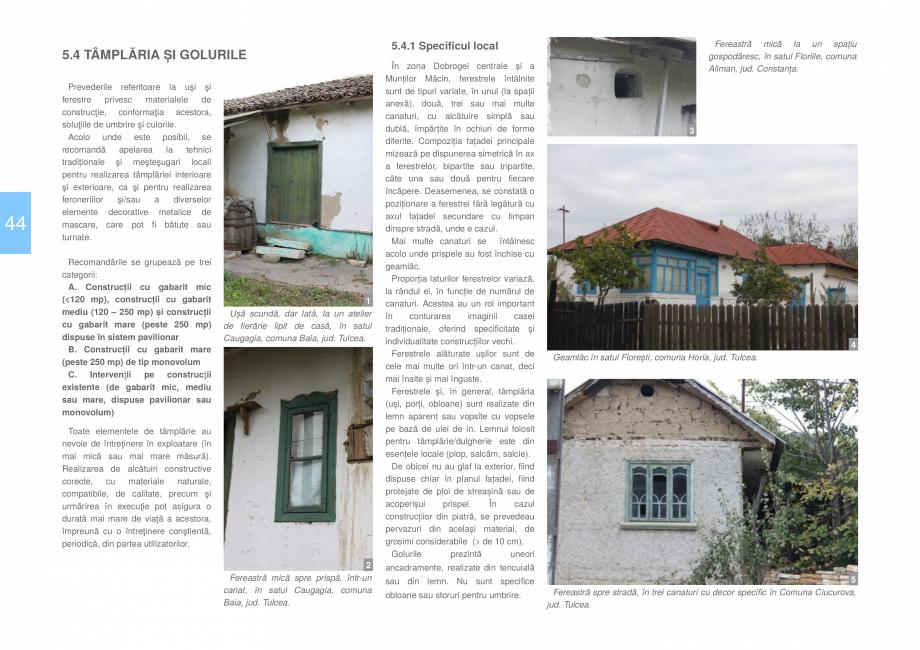 Pagina 46 - Zona Dobrogea Centrala si Muntii Macin - Ghid de arhitectura pentru incadrarea in...