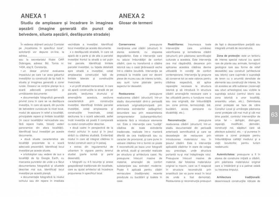 Pagina 65 - Zona Dobrogea Centrala si Muntii Macin - Ghid de arhitectura pentru incadrarea in...
