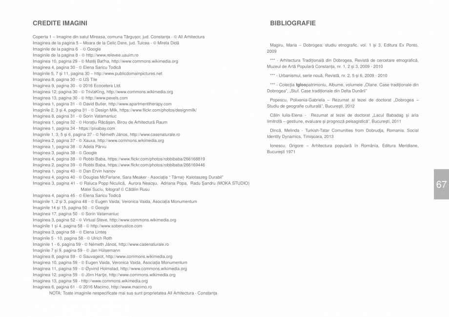 Pagina 69 - Zona Dobrogea Centrala si Muntii Macin - Ghid de arhitectura pentru incadrarea in...