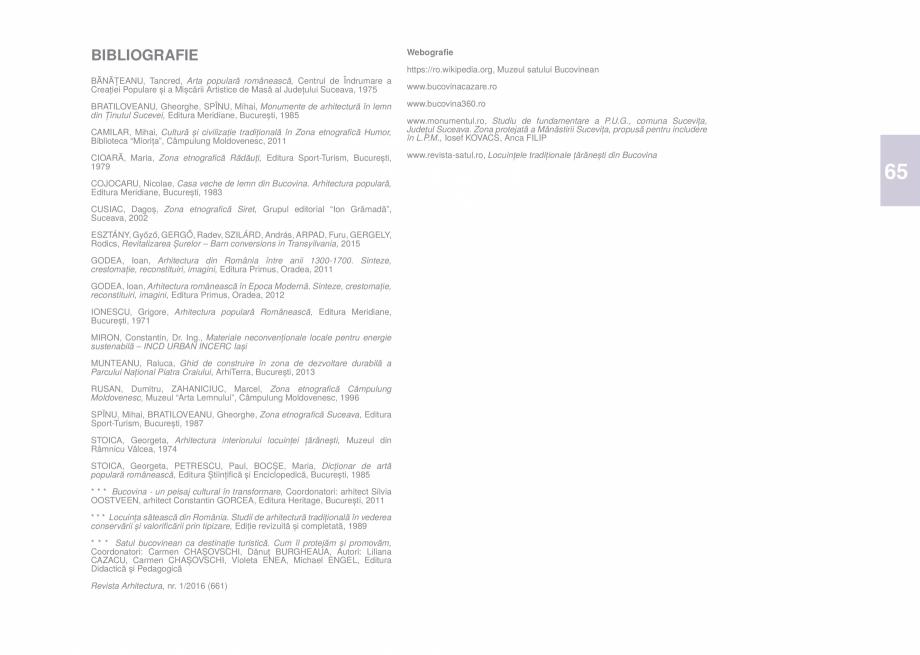 Pagina 67 - Zona Bucovina de Sud - Ghid de arhitectura pentru incadrarea in specificul local din...