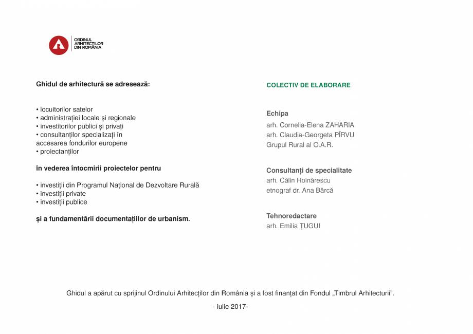 Pagina 20 - Zona Prahova Subcarpatica - Ghid de arhitectura pentru incadrarea in specificul local...