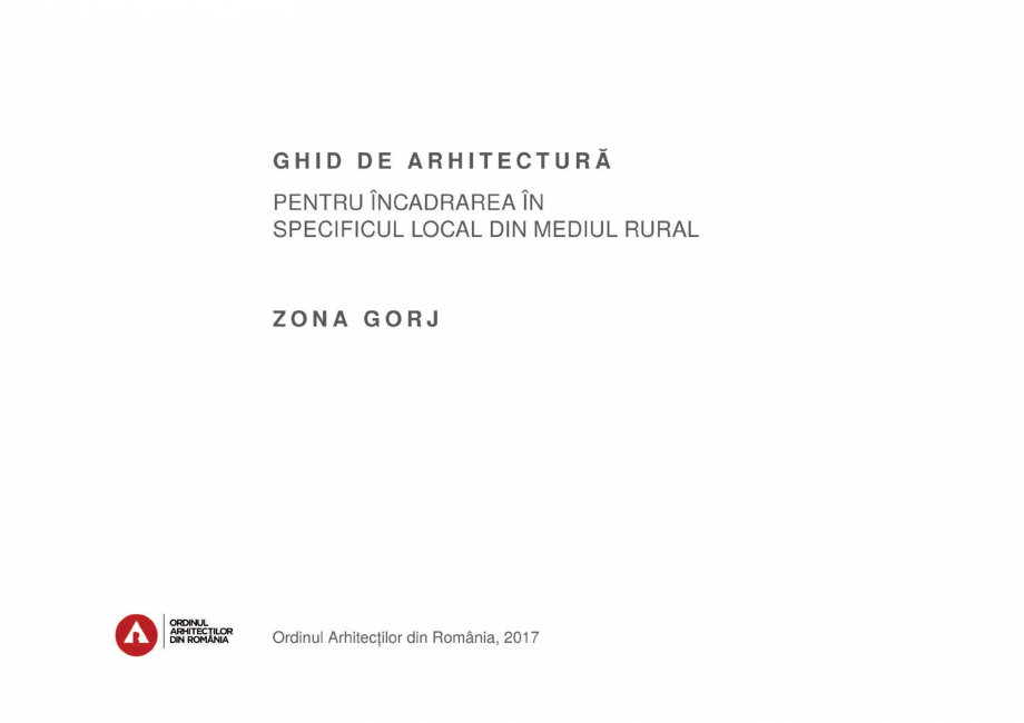 Pagina 3 - Zona Gorj - Ghid de arhitectura pentru incadrarea in specificul local din mediul rural ...