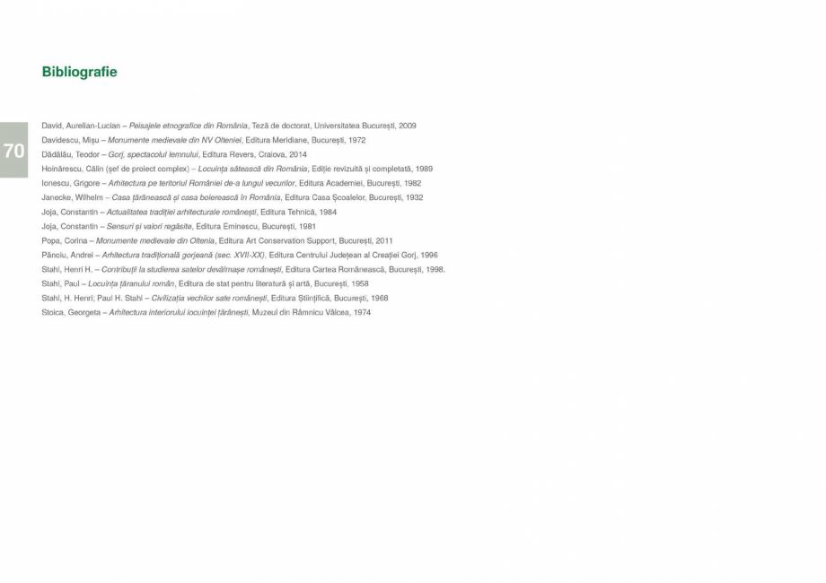 Pagina 72 - Zona Gorj - Ghid de arhitectura pentru incadrarea in specificul local din mediul rural  ...