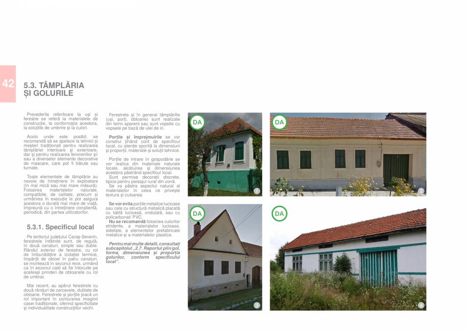 Pagina 44 - Zona Caras Severin - Ghid de arhitectura pentru incadrarea in specificul local din...
