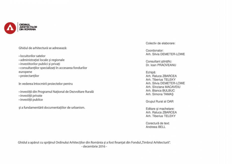 Pagina 2 - Zona Tara Fagarasului - Ghid de arhitectura pentru incadrarea in specificul local din...