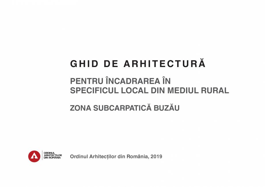 Pagina 3 - Zona Subcarpatica Buzau - Ghid de arhitectura pentru incadrarea in specificul local din...