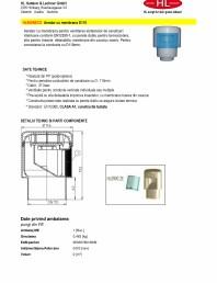 Aerator cu membrana pentru ventilarea sistemelor de canalizari interioare