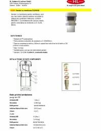 Aerator cu membrana pentru ventilarea unui sau mai multor obiecte sanitare