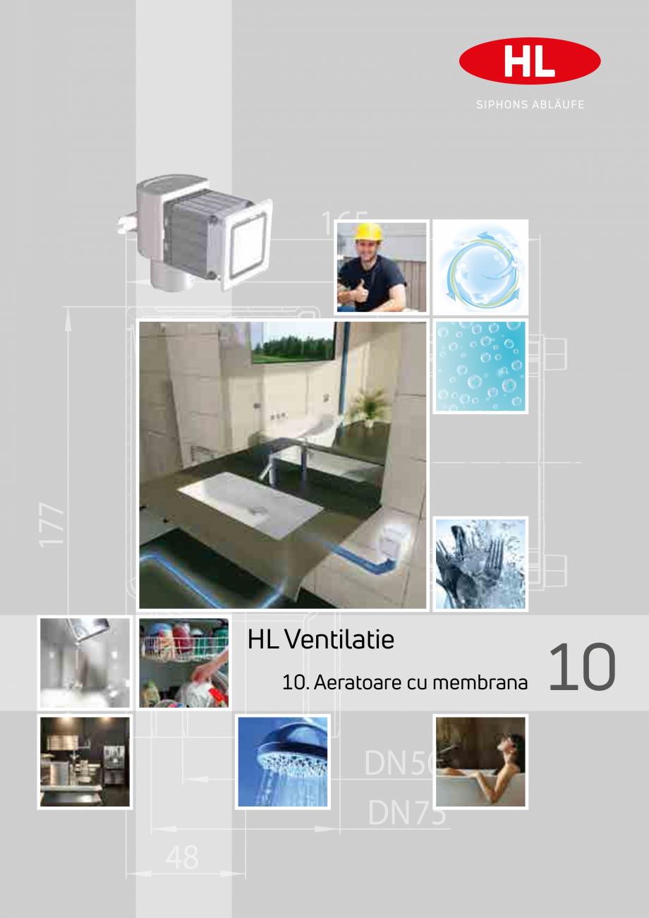 Pagina 1 - Aeratoare cu membrana HL Hutterer & Lechner HL905, HL900NECO, HL900N, HL904 Catalog, ...