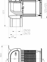 Piesa de ventilatie inzidita pentru aerisirea coloanelor de canalizare - Desen tehnic