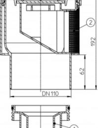 Aerator cu membrana pentru ventilarea sistemelor de canalizari interioare - Desen tehnic