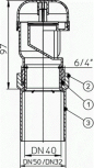Aerator cu membrana pentru ventilarea unui sau mai multor obiecte sanitare - Desen tehnic HL Hutterer