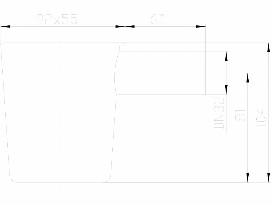 Pagina 1 - CAD-DXF Palnie de picurare cu sifon si obturator de miros mecanic tip bila HL Hutterer...